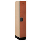 "Salsbury Designer Wood Locker 31151 - Single Tier 1 Wide 12""W x 21""D x 60""H Cherry Assembled"