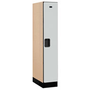 "Salsbury Designer Wood Locker 31151 - Single Tier 1 Wide 12""W x 21""D x 60""H Gray Assembled"