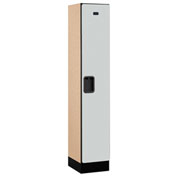 "Salsbury Designer Wood Locker 31155 - Single Tier 1 Wide 12""W x 15""D x 60""H Gray Assembled"