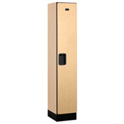 "Salsbury Designer Wood Locker 31155 - Single Tier 1 Wide 12""W x 15""D x 60""H Maple Assembled"