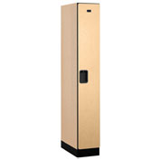 "Salsbury Designer Wood Locker 31161 - Single Tier 1 Wide 12""W x 21""D x 72""H Maple Assembled"