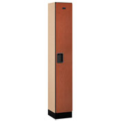 "Salsbury Designer Wood Locker 31165 - Single Tier 1 Wide 12""W x 15""D x 72""H Cherry Assembled"