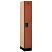 "Salsbury Designer Wood Locker 31168 - Single Tier 1 Wide 12""W x 18""D x 72""H Cherry Assembled"