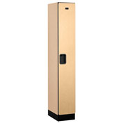 "Salsbury Designer Wood Locker 31168 - Single Tier 1 Wide 12""W x 18""D x 72""H Maple Assembled"