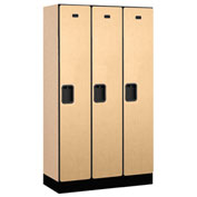 "Salsbury Designer Wood Locker 31355 - Single Tier 3 Wide 12""W x 15""D x 60""H Maple Unassembled"