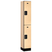 "Salsbury Designer Wood Locker 32165 - Double Tier 1 Wide 12""W x 15""D x 36""H Maple Assembled"
