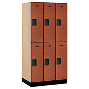 "Salsbury Designer Wood Locker 32361 - Double Tier 3 Wide 12""W x 21""D x 36""H Cherry Unassembled"