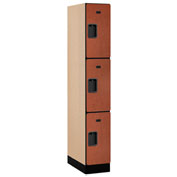 "Salsbury Designer Wood Locker 33161 - Triple Tier 1 Wide 12""W x 21""D x 24""H Cherry Assembled"