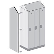"Salsbury Double End Side Panel 33309DE - for 15""D Designer Wood Locker with Sloping Hood Gray"