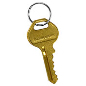 Salsbury Master Control Key 33311 - for Built-in Combination Lock of Designer Wood Locker Gold