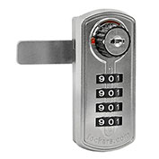 Salsbury Resettable Combination Lock 33395 - for Designer Wood Locker Door Silver