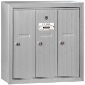 Salsbury 3500 Series 4B+ Vertical Mailbox, 3 Doors, Surface Mounted, Aluminum, USPS Access