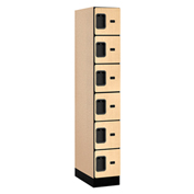 "Salsbury Designer Wood Locker 36161 - Six Tier 1 Wide 12""W x 21""D x 12""H Maple Assembled"