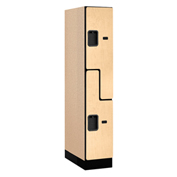 "Salsbury Designer Wood Locker 37151 - Z-Style 1 Wide 12""W x 21""D x 60""H Maple Assembled"