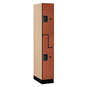 "Salsbury Designer Wood Locker 37161 - Z-Style 1 Wide 12""W x 21""D x 72""H Cherry Assembled"