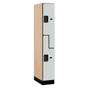 "Salsbury Designer Wood Locker 37161 - Z-Style 1 Wide 12""W x 21""D x 72""H Gray Assembled"