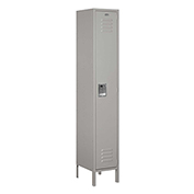 "Salsbury Extra Wide Metal Locker 51165 - Single Tier 1 Wide 15""W x 15""D x 72""H Gray Assembled"
