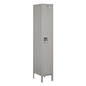 "Salsbury Extra Wide Metal Locker 51168 - Single Tier 1 Wide 15""W x 18""D x 72""H Gray Assembled"