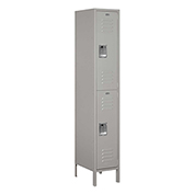 "Salsbury Extra Wide Metal Locker 52168 - Double Tier 1 Wide 15""W x 18""D x 36""H Gray Assembled"