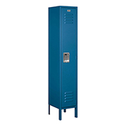 "Salsbury Metal Locker 61152 - Single Tier 1 Wide 12""W x 12""D x 60""H Blue Assembled"