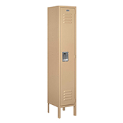 "Salsbury Metal Locker 61152 - Single Tier 1 Wide 12""W x 12""D x 60""H Tan Assembled"