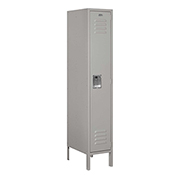 "Salsbury Metal Locker 61158 - Single Tier 1 Wide 12""W x 18""D x 60""H Gray Assembled"