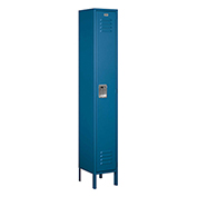 "Salsbury Metal Locker 61162 - Single Tier 1 Wide 12""W x 12""D x 72""H Blue Assembled"