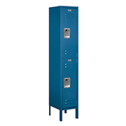 "Salsbury Metal Locker 62152 - Double Tier 1 Wide 12""W x 12""D x 30""H Blue Unassembled"