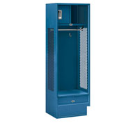 "Salsbury Gear Metal Locker 70018 - Open Access 24""W x 18""D x 72""H Blue Assembled"