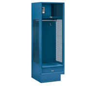 "Salsbury Gear Metal Locker 70024 - Open Access 24""W x 24""D x 72""H Blue Unassembled"
