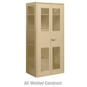 "Salsbury Military Combination Storage Locker 7155 - 36""W x 24""D x 78""H Tan"