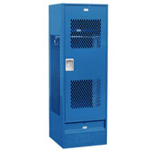 "Salsbury Gear Metal Locker 72024 - Ventilated Door 24""W x 24""D x 72""H Blue Assembled"