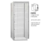 "Salsbury Bulk Storage Locker 8134-S - Starter Unit Single Tier 36""W x 48""D x 90""H Gray"