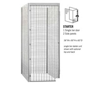 "Salsbury Bulk Storage Locker 8135-S - Starter Unit Single Tier 36""W x 60""D x 90""H Gray"