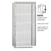 "Salsbury Bulk Storage Locker 8143-S - Starter Unit Single Tier 48""W x 36""D x 90""H Gray"