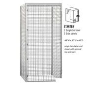"Salsbury Bulk Storage Locker 8144-S - Starter Unit Single Tier 48""W x 48""D x 90""H Gray"
