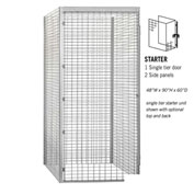 "Salsbury Bulk Storage Locker 8145-S - Starter Unit Single Tier 48""W x 60""D x 90""H Gray"