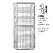 "Salsbury Bulk Storage Locker 8233-S - Starter Unit Double Tier 36""W x 36""D x 90""H Gray"