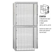 "Salsbury Bulk Storage Locker 8243-S - Starter Unit Double Tier 48""W x 36""D x 90""H Gray"