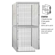 "Salsbury Bulk Storage Locker 8245-S - Starter Unit Double Tier 48""W x 60""D x 90""H Gray"
