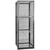 "Salsbury Security Cage Storage Locker 8400 - 18""W x 18""D x 72""H Gray Assembled"