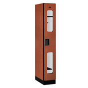 "Salsbury C-Thru Designer Wood Locker S-31161 - Single Tier 1 Wide 12""Wx21""Dx72""H Cherry Assembled"