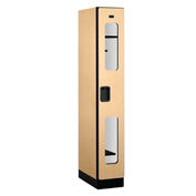 "Salsbury C-Thru Designer Wood Locker S-31161 - Single Tier 1 Wide 12""Wx21""Dx72""H Maple Assembled"