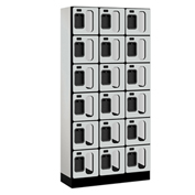 "Salsbury Designer Wood Locker S-36365 - Six Tier 3 Wide 12""W x 15""D x 12""H Gray Unassembled"