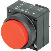Siemens 3SB3000-0BA21 Pushbutton, Momentary, Red, Extended Cap, Operator, Round-Plastic