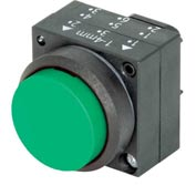 Siemens 3SB30000BA41 Pushbutton, Momentary, Green, Extended Cap, Operator, Round-Plastic