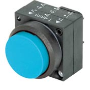 Siemens 3SB3000-0BA51 Pushbutton, Momentary, Blue, Extended Cap, Operator, Round-Plastic