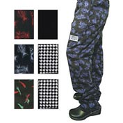 E Z Fit Chef'S Pants, 2X, Hounds Tooth, Poly Cotton Blend