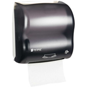 San Jamar Compact Simplicity Hands-Free Mechanical Towel Dispenser, Classic Black Pearl - T7500TBK
