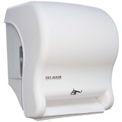 San Jamar Smart Essence™ Electronic Roll Towel Dispenser, Classic White - T8400WH